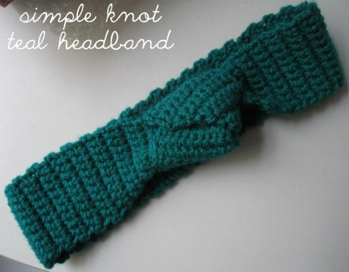teal headband